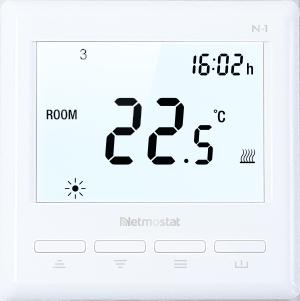 Netmostat Wifi thermostaat. Bedien uw thermostaat vanaf uw mobiele telefoon. Compleet met vloersensor voor gebruik bij vloerverwarming.